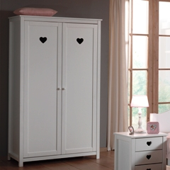 romantische meisjeskamer amor 2-deurs kledingkast – Meram Meubelen